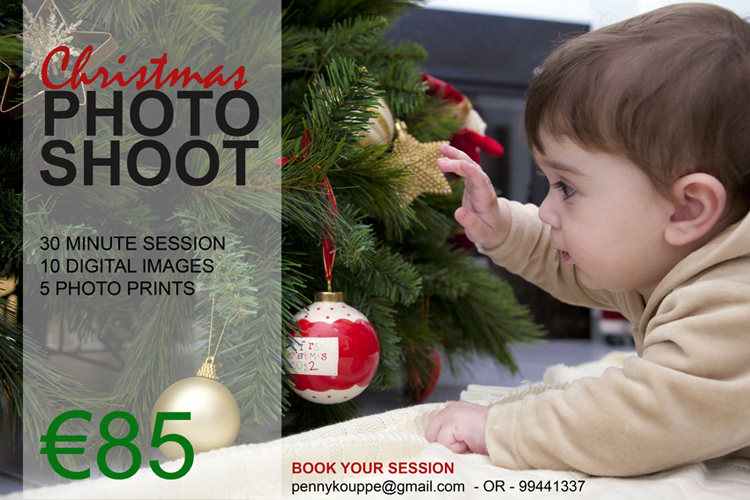 CHRISTMAS PHOTOGRAPHY ADVERT